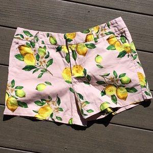 Cynthia Rowley pink lemons shorts. Size 6